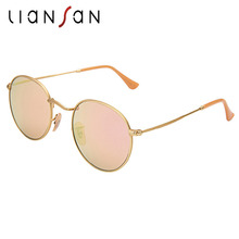 LianSan Pilot Aviator Aluminium Sunglasses Women Men Brand Designer Luxury Driving Sun Glasses Unpolarized Glass Lens LS3447GSZ