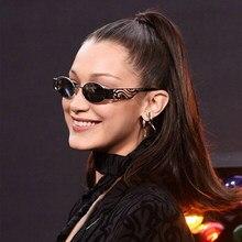 ab595bb89a Kachawoo Retro Oval Sunglasses For Women Punk Style Red Gold Black Metal  Round Sun Glasses Men Vintage Modern 2019