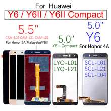цена на 5.0 LCD For Huawei Y6 II Compact LYO L01 L21 Y6ii CAM L23 L03 L32 Y6 LCD Display Touch Screen Digitizer SCL L01 L21 L04 U31 U21
