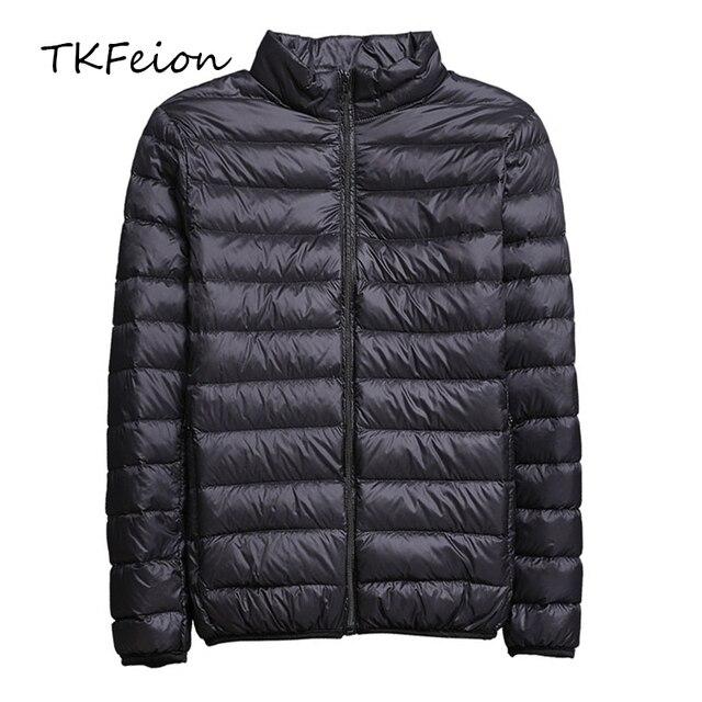 2019 frühling/Herbst Männer Nehmen Jacken Mode Leichte, Tragbare Stehkragen Plus Größe 5XL Männliche Ente Unten Mäntel Freiheit verkauf
