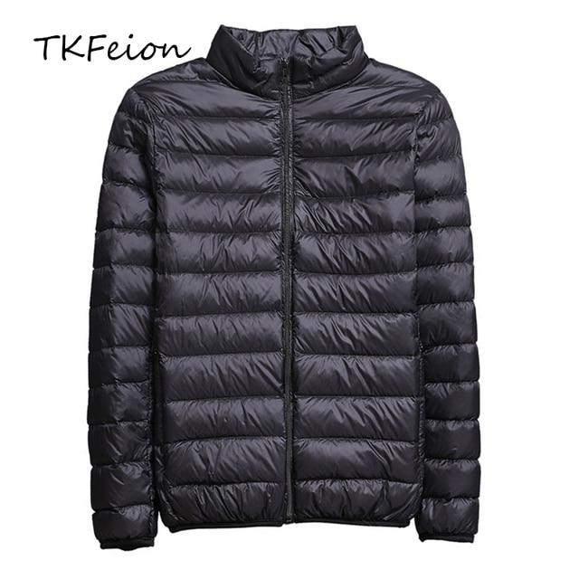 2019 İlkbahar/Sonbahar Erkek Ince Ceketler Moda Hafif taşınabilir stant Yaka Artı Boyutu 5XL Erkek Ördek Aşağı Palto Tasfiye Satışı