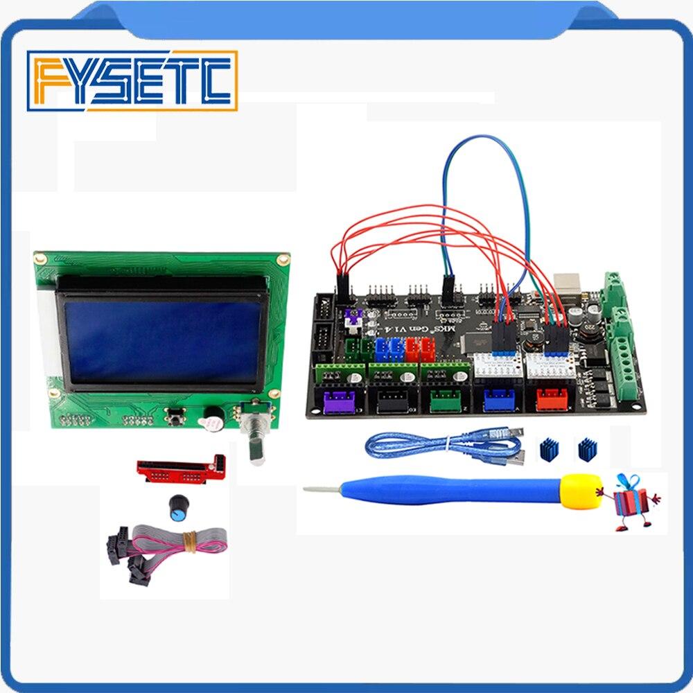 1PC MKS Gen V1.4 3D Printer 4 Layers PCB Controller Board + 2PCS TMC2130 V1.1 SPI Silent Driver+ New 12864 Graphic LCD Set стоимость