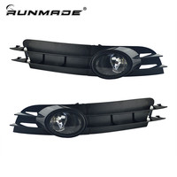 runmade Fog Lamp With Grill Set For 05 06 07 Audi A6 C6 A6L Bumper Grill + Fog Light With H7 Halogen Bulbs