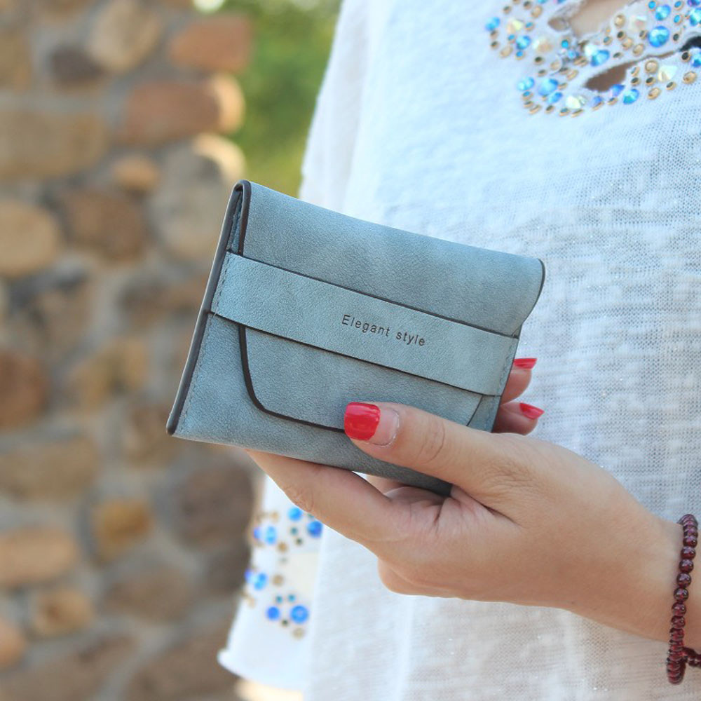 Fashion Women Bifold Wallet Clutch Solid HASP Credit Card Holder Short Purse Ladies Casual Small Handbag Wallets casual weaving design card holder handbag hasp wallet for women
