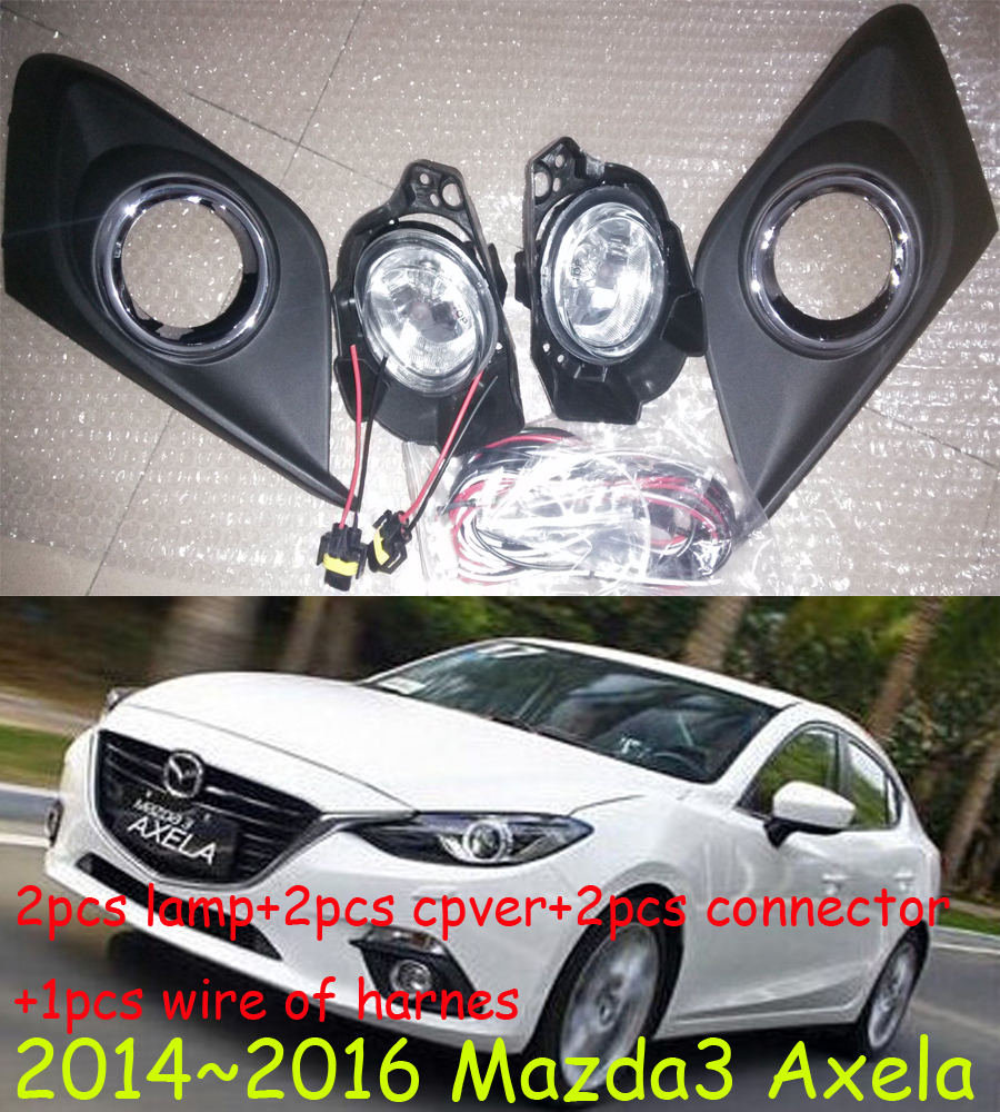 Mazd3 Axela fog light,2014~2016,2pcs+wire of harness ON/OFF,Axela halogen light,Free ship! Axela headlight,Mazd3 2011 2013 golf6 fog light 2pcs set wire of harness golf6 halogen light 4300k free ship golf6 headlight golf 6