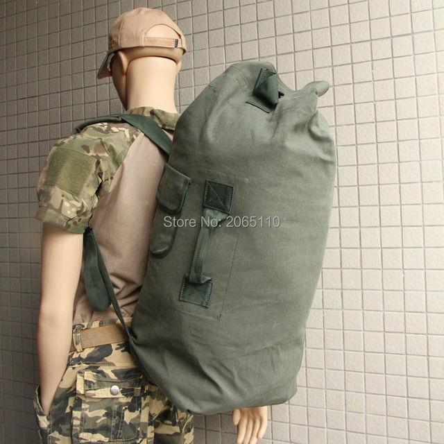 197144ca2a Militer Taktis Kapasitas Besar Kanvas Olahraga Ransel Backpack Outdoor  Camping Trekking Hiking Bag 45L Army Hijau
