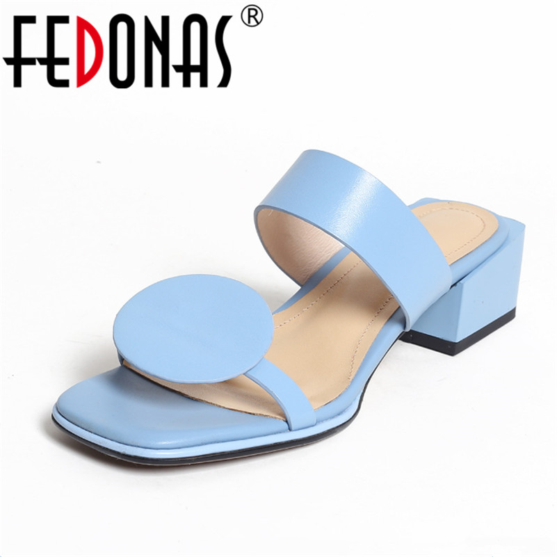 FEDONAS 2018 Brand Sexy Women Wedding Party Shoes Woman Genuine Leather Stiletto High Heels Shoes Female Summer Sandals fedonas women sandals soft genuine leather summer shoes woman platforms wedges heels comfort casual sandals female shoes