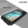 Любовь Мэй Противоударный Гибридный Силикон Металлический Корпус для LG G5 Корпус Водонепроницаемый Алюминиевый Прочный Броня Чехол С Gorilla Glass