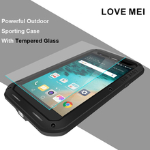 Love Mei Shockproof Hybrid Silicone Metal Case for LG G5 Housing Waterproof Aluminum Rugged Armor Cover With Gorilla Glass