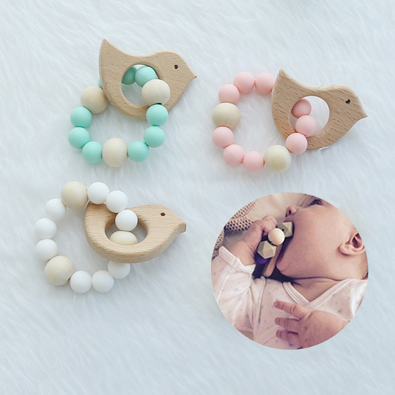 OUSSIRRO INS Nordic Style Animals Shape Wooden Beads Ornaments Nursery Tent Garland Wall Hanging Pendant Kids Room Decor Prop