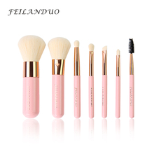 FEILANDUO Professional Makeup Brush Set 7pcs High Quality Tools Kit Violet