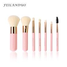 FEILANDUO Professional Makeup Brush Set 7pcs High Quality Makeup Tools Kit Violet