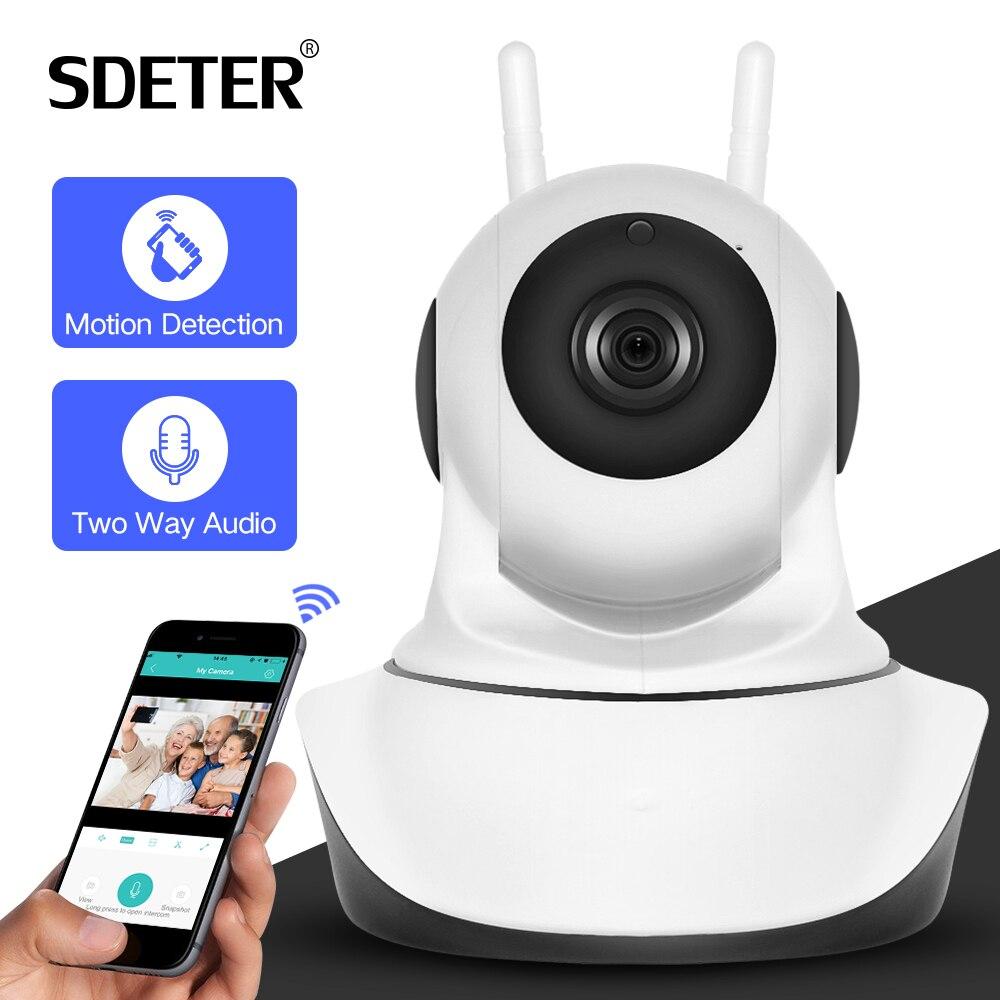Купить на aliexpress SDETER P 720 P 1080 p камера видеонаблюдения HD ip-камера Wi-Fi беспроводная домашняя камера безопасности Plug And Play PTZ P2P ночная версия внутренняя камера