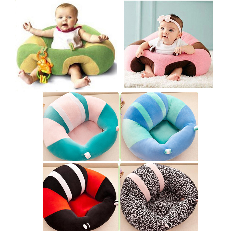 Round Plush Baby Seat Support Infant Learn To Sit Sofas Play Game Mat Cushion For Newborn 0-3 Months Baby Best Gift