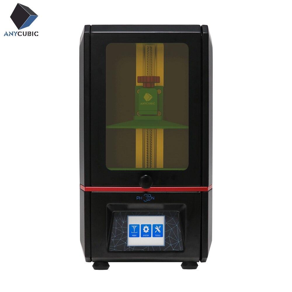 ANYCUBIC 3d принтер Фотон SLA УФ смола свет лечение рабочего стола Impresora 405nm Смола плюс размер печати 3d Drucker дешево