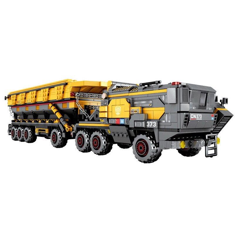 Les blocs de construction de modèle de camion de Transport lourd d'ingénierie de ville éclairent des jouets de Figure pour le cadeau de noël d'enfants