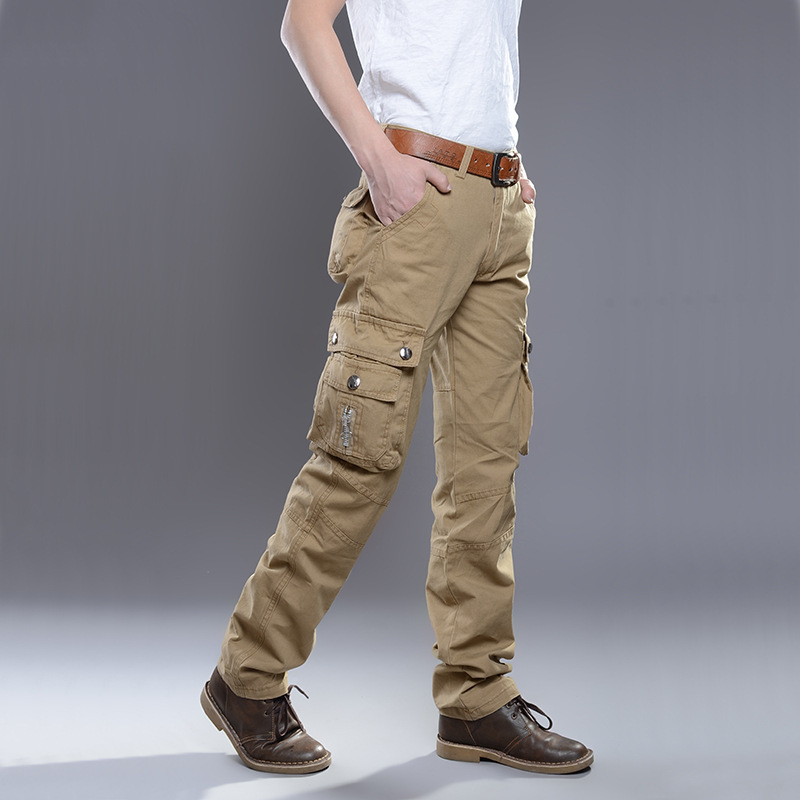 High Quality Mens Cargo Pant Baggy Casual Men Tactical Pant Multi Pocket Military Overall Male Outdoors Long Trouser Army ...