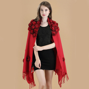 New Pattern Autumn And Winter Wool Shawl Cashmere Scarf Cloak Thickening Bride Full Dress Marry Cheongsam Shawl