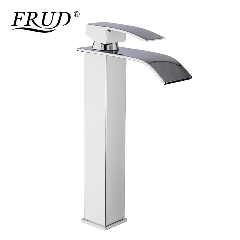 FRUD bassin navire éviers mélangeur robinet mitigeur comptoir cascade carré salle de bains lavage mélangeur robinets pont monté Y10139