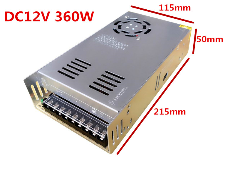 3 years warranty 50pcs12V <font><b>30A</b></font> 360W Switch Power Supply Driver Adapter for Transformer LED Strip Light Display 110V/220V image