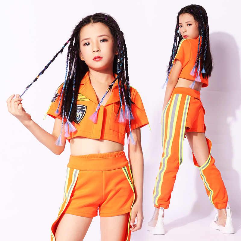Новая модная детская одежда для джазовых танцев костюмы уличных в стиле хип хоп