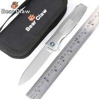 Коготь медведя p60 тактика Флиппер складные ножи S35VN лезвие шарикоподшипники Titanium ручка Открытый Охота Кемпинг нож EDC инструменты