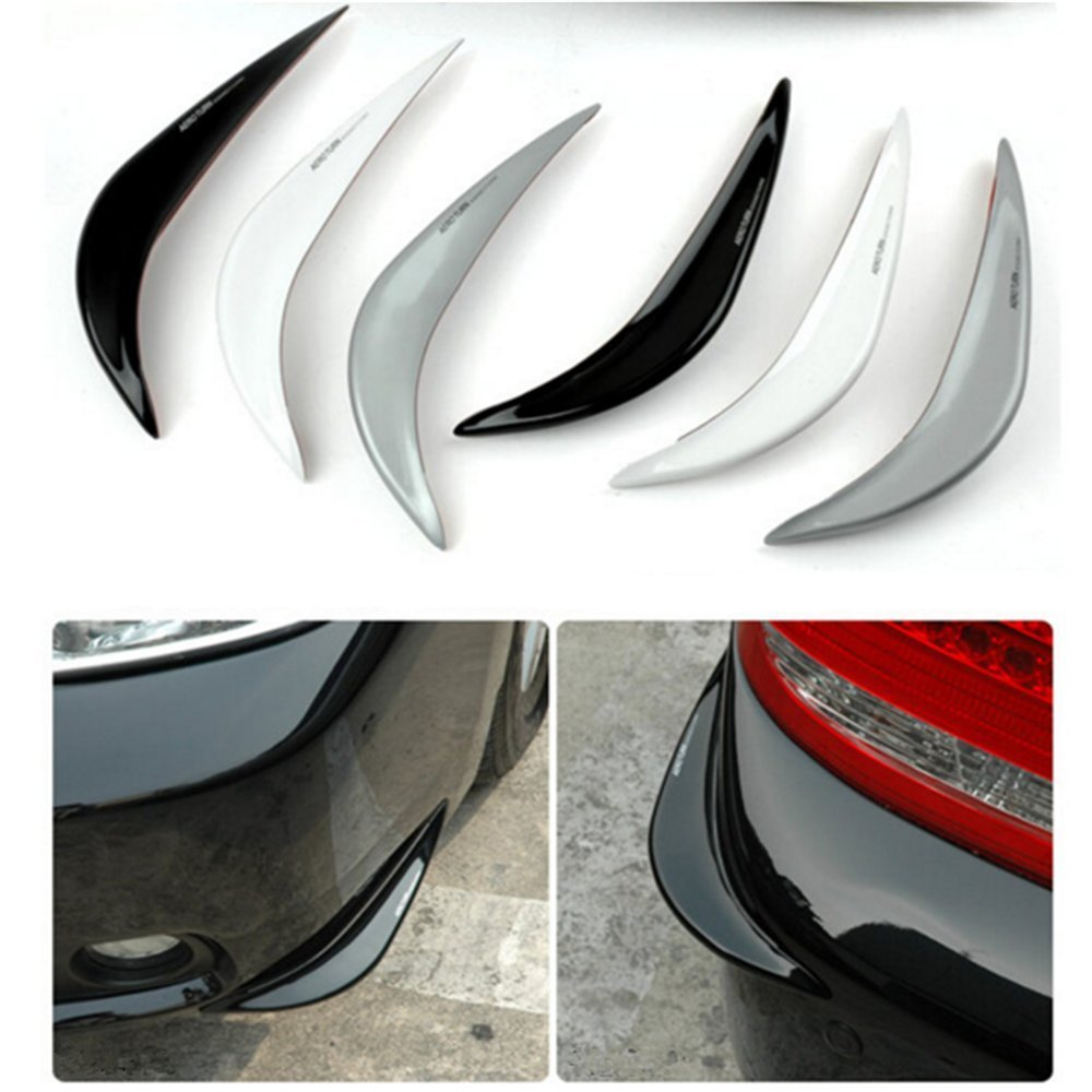2017 2PCSCar Bumper Guard Cover Stickers Protector 3D Streamline for Hyundai Santa Fe Solaris Sonata Terracan Tiburon Tucson 4pcs set smoke sun rain visor vent window deflector shield guard shade for hyundai tucson 2016