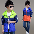 Boy's jacket spring and autumn  models of the new 6 children 7 children loaded 8 charge clothing 9 years old 10 plus Velve