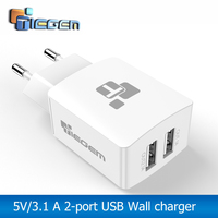 TIEGEM Universal 2 port Travel DUal USB Charger Adapter Wall Portable EU Plug Mobile Phone Smart Charger for iPhone Tablet