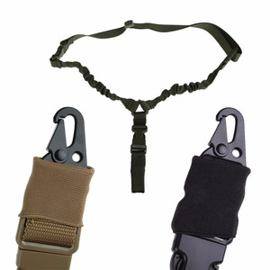 Image 4 - Military Tactical USA One Single Point Toy Gun Sling Rope Adjustable Bungee Rifle Sling Strap System for Airsoft Hunting