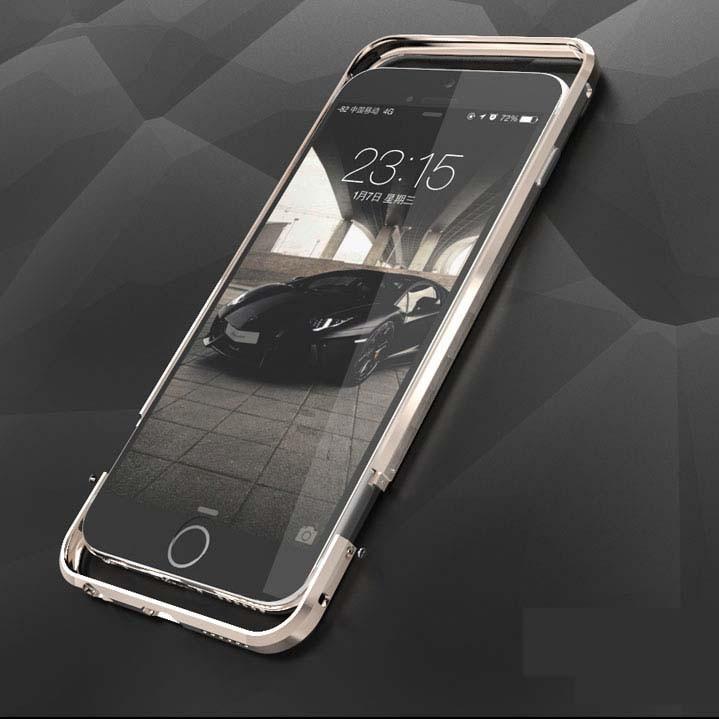 ITEUU 6 6S Plus Rasti prej luksoze metalike me parakolp për Apple iPhone 6 6S Plus Kornizë me aliazh alumini me cilësi të lartë