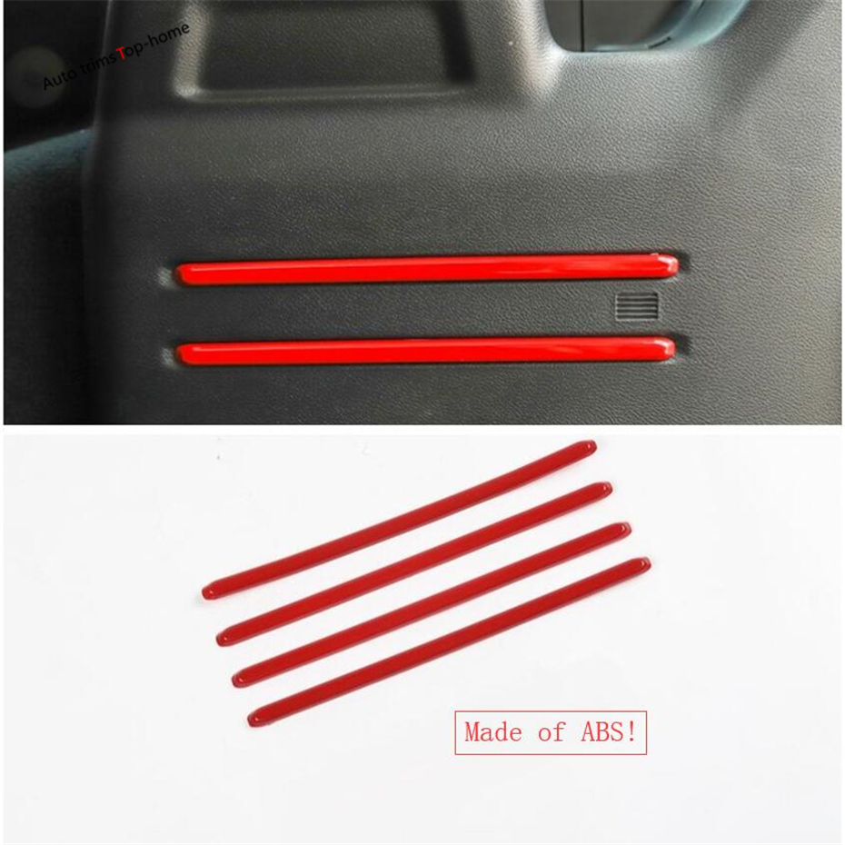 Yimaautotrims Rear Trunk Tail Box Decoration Strip Cover Trim Fit For Jeep Wrangler JL 2018 2019 ABS Interior Mouldings