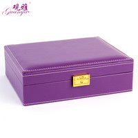Two layers 2018 New High Quality Jewelry Box For Jewelry Exquisite Makeup Case Jewelry Organizer Birthday Gift Festival Gift
