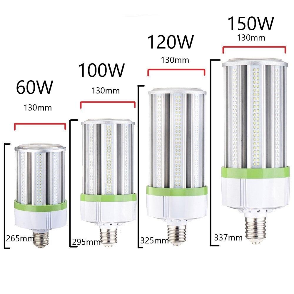 Lampe épis de maïs LED 150 W E26 E39 LED ampoule de maïs 5000 K 130LM/W lampadaire LED lumens élevés pour les routes, les rues, les ponts, les autoroutes - 5