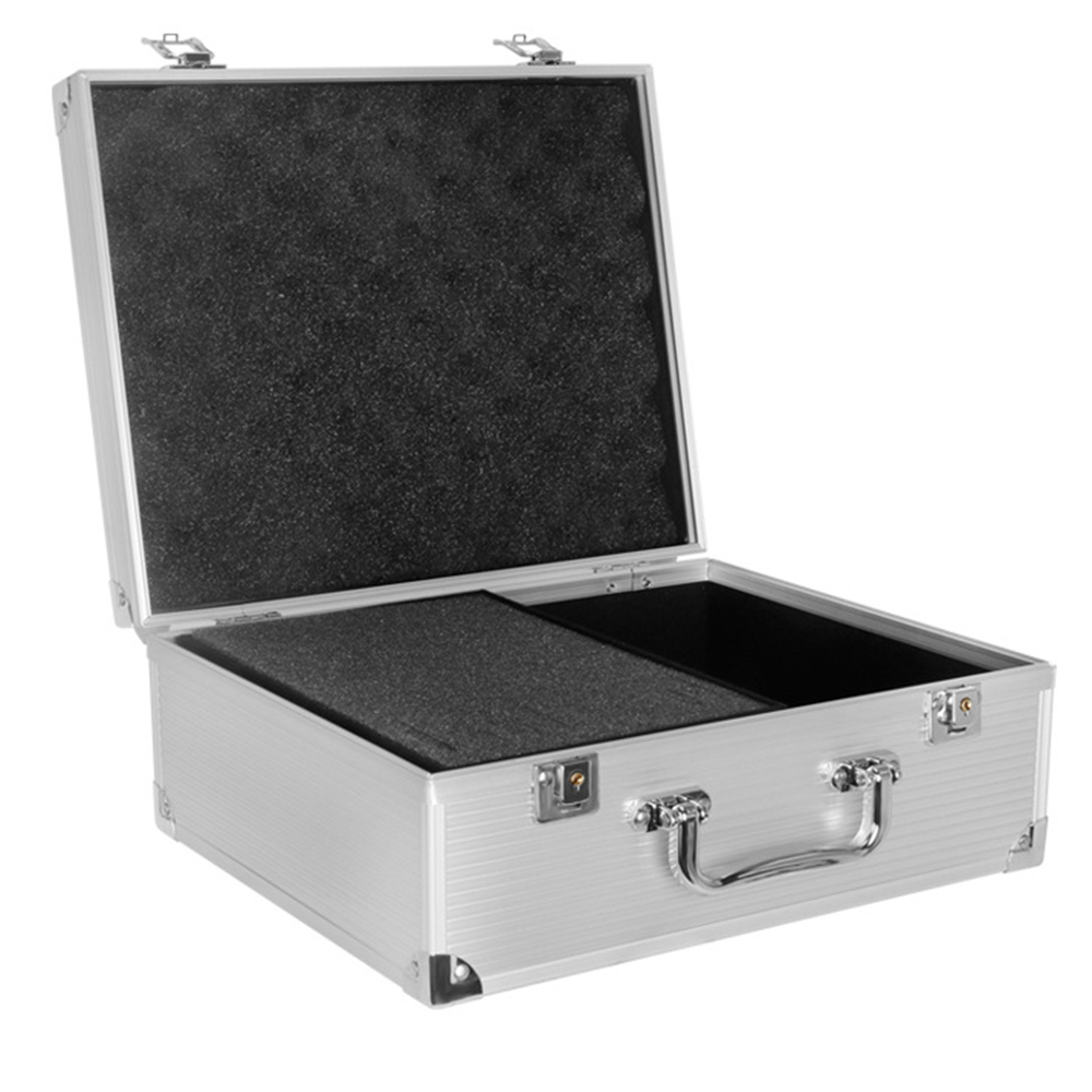 Boîte de tatouage d'alliage d'aluminium argenté de L 1 pièces pour des Kits de Machine de tatouage accessoires permanents de maquillage fournissent des outils de maquina de tatouage