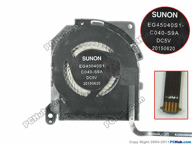 SUNON EG45040S1-C040-S9A Server Laptop Fan DC 5V 4-wire free shipping for sunon gb1207ptv2 a 13 b4396 f gn dc 12v 2 2w 3 wire 3 pin connector 70mm 70x70x25mm server square cooling fan