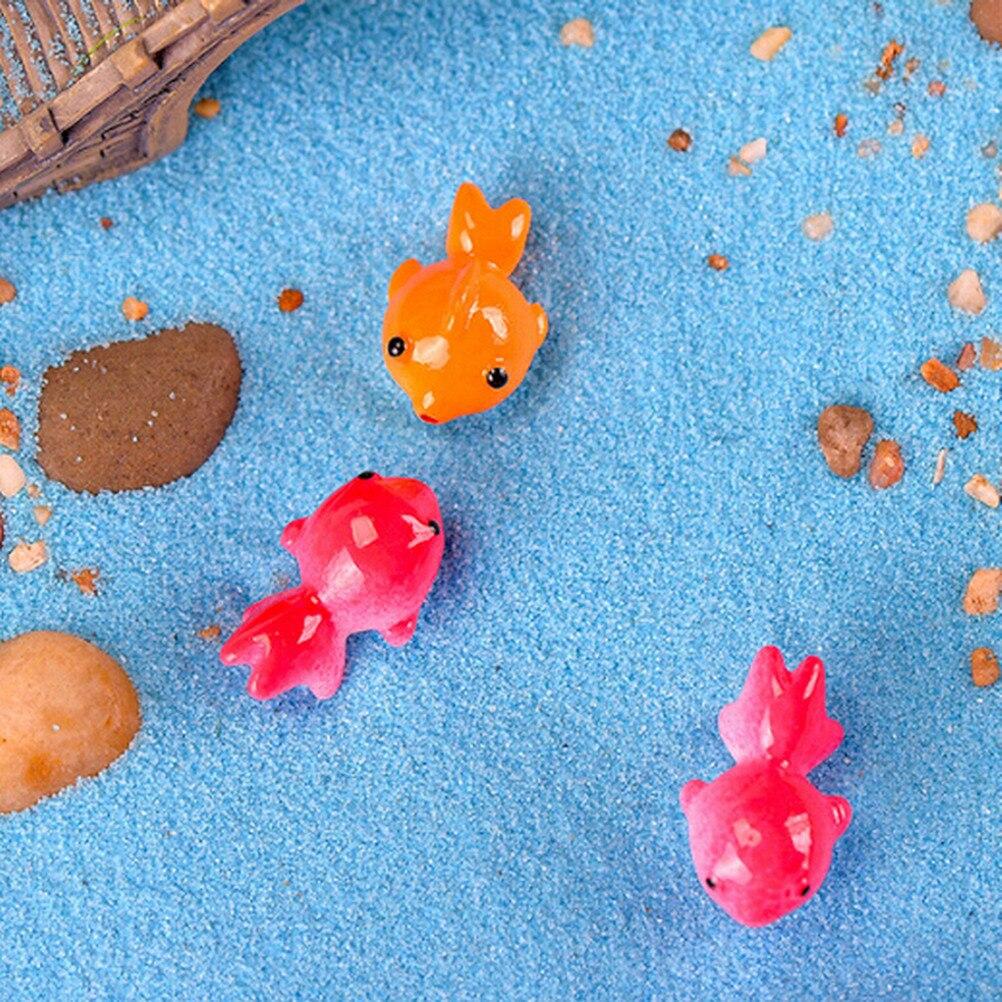 NEW Simulation Fish Miniature Garden Figurine Accessories Decor Fairy Goldfish Craft Bonsai Toy 2*1.3cm Wholesale