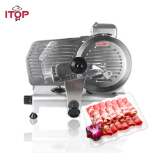110V Frosen Meat Slicer Deli Cutting Machine Commercial Semi-Automatic Heavy Duty