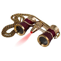 3X25 Opera Classic Binoculars Metal Body with Chain led light Optical Lens Theater Telescope Retro Design Women Girls Gift