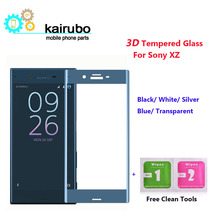 (100pcs/LOT) 3D Edge Curved Screen Protector Tempered Glass For Sony Xperia XZ Fully Covered Protective Film