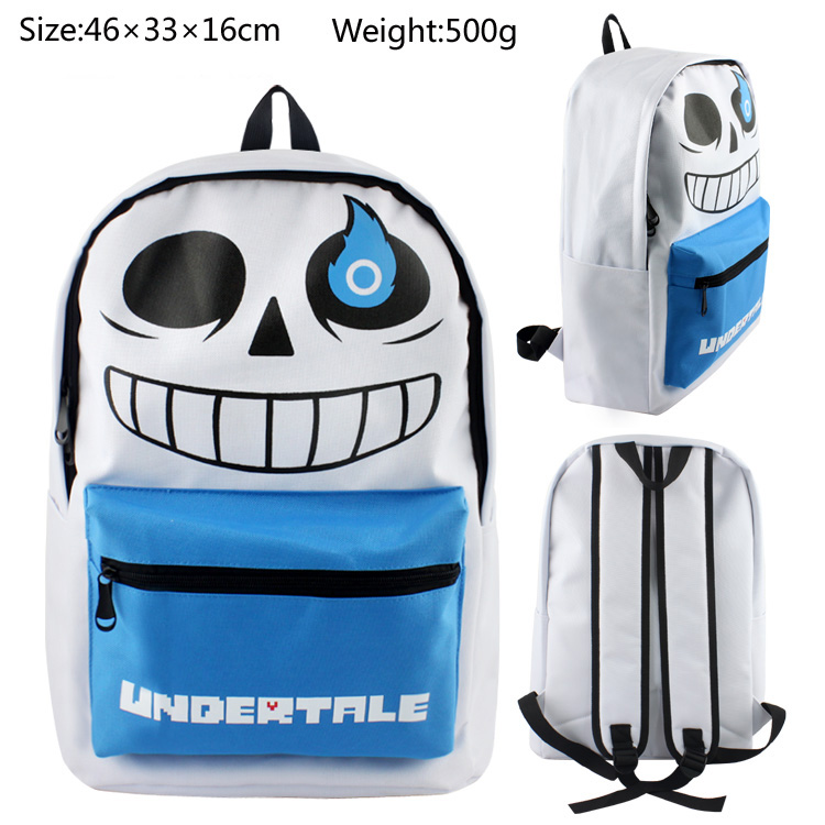 2018 Undertale Sans Backpacks Children Cartoon Canvas School Backpack for Teenagers Boys Men's Bag Kids Mochila Laptop Bags