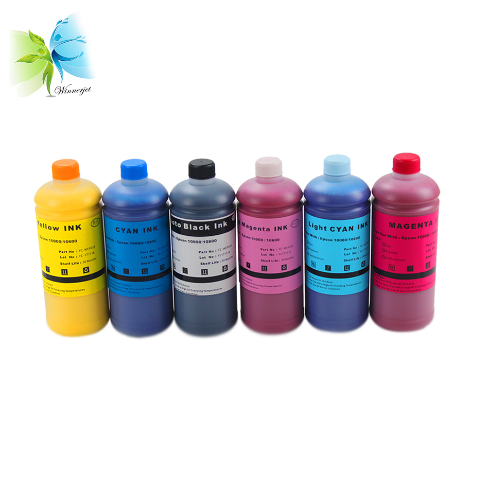 Winnerjet Special Pigment Ink For Epson Stylus Pro10600 10000 Pigment Ink On Sale 1000ml x 6 colors ink in Ink Refill Kits from Computer Office