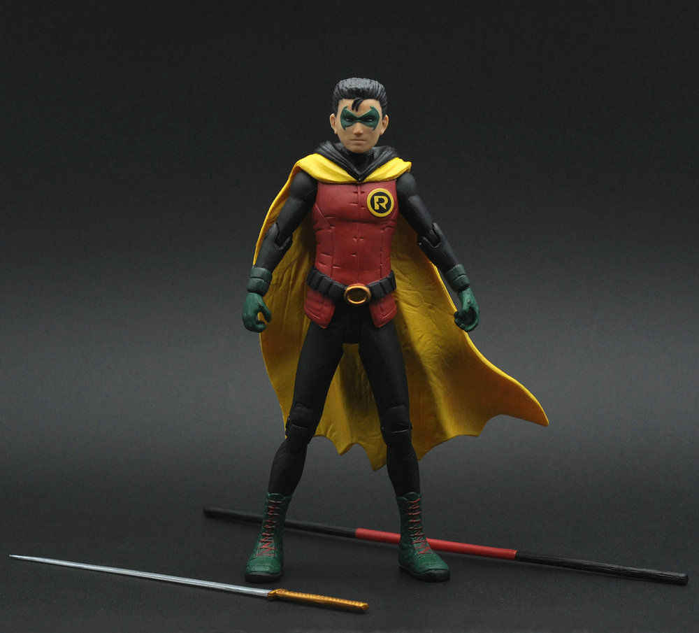 Bom Batman como Robin Solto Action Figure Rare