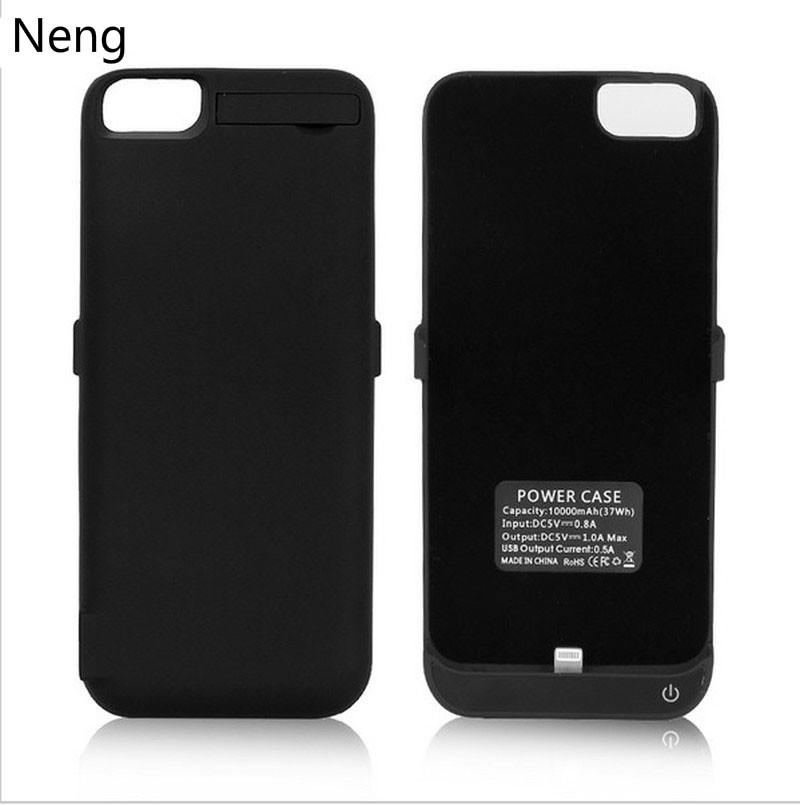 NENG 10000mAh High Quality Rechargeable <font><b>Battery</b></font> Charging <font><b>Case</b></font> For iPhone6 6s 7 8 External <font><b>Battery</b></font> Backup For iPhone6 6s 7 8 Plus image