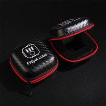 100pcs/lot Fidget Cube Box Magic Cube Protection PU Box 8cm*8cm Small and Portable Easy To Carry #SJ170327K