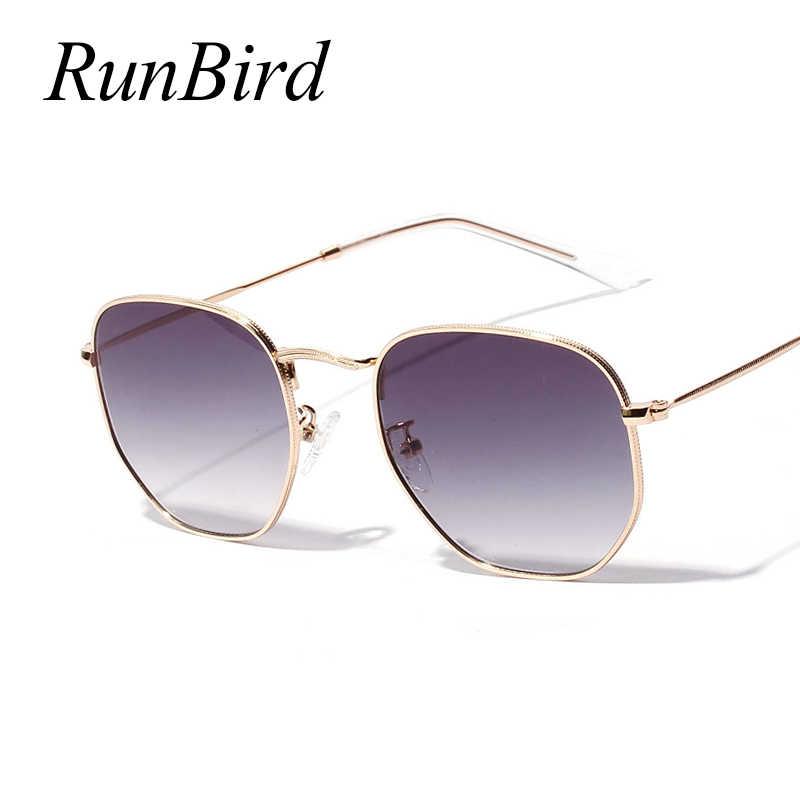 c534c52f1 ... RunBird Spring Fashion Small Square Sunglasses Women Men Gold Thin  Metal Frame Blue Green Sun Glasses