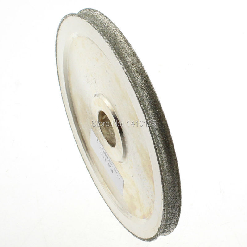 6 inch Grinding 10mm Spherical Grit 80 Coarse Lapidary Diamond Grinding Wheel Electroplated CONCAVE ARC Polish for Gems Jewelry