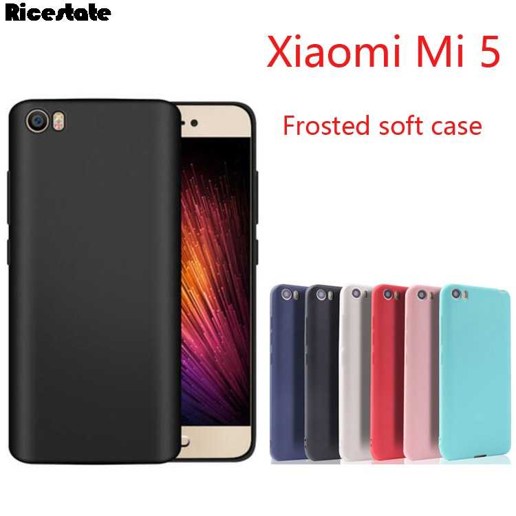 For Xiaomi Mi5 Ultrathin Crystal and Matte Candy Solid Color Soft Case For Xiaomi Mi 5 Back Cover Silicon case