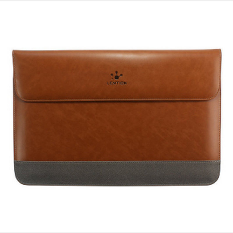 New Arrive Premium Quality Leather Sleeve Bag Case for MacBook Air 13