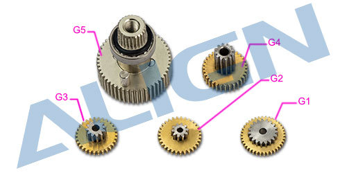 Trex DS615S Servo Gear Set Align HSP61503 trex parts Free Shipping with Tracking